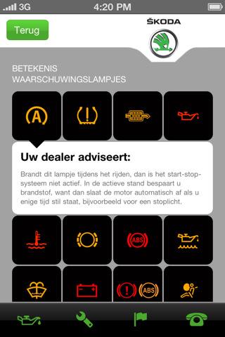 skoda service app voor iphone en andoid onderhoud skoda forum europe. Black Bedroom Furniture Sets. Home Design Ideas
